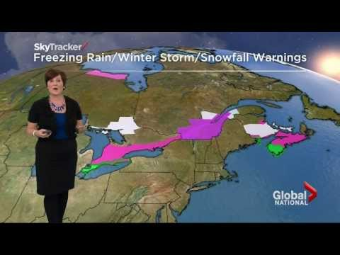 Environment Canada has issued severe weather warnings for eastern Canada