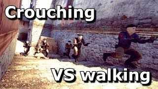 CS:GO - Crouching VS Walking