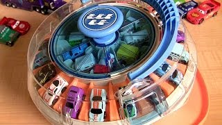 vuclip 36 Rotating Cars Carousel Playset Using Micro Drifters & Micro Cars Disney Pixar Auto Collection