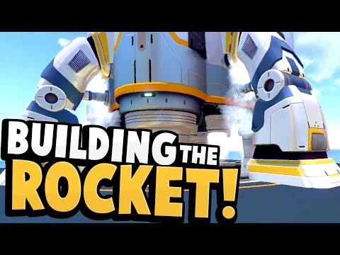 Subnautica - BUILDING THE SUBNAUTICA ROCKET! End Game Rocket Construction Gameplay & Updates!