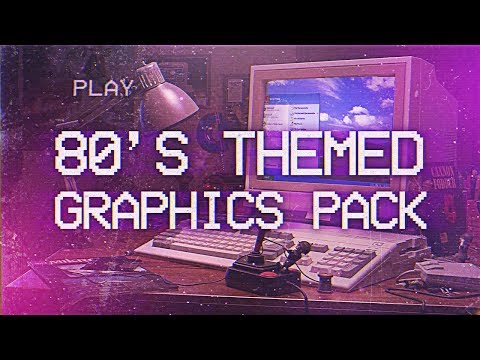 80's Themed Photoshop Graphics Pack! (FREE)
