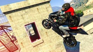 INCREDIBLE MOTORBIKE STUNT! - (GTA 5 Stunts & Fails)