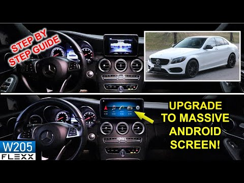 NEW ANDROID 10 SCREEN INSTALL on 2015+ Mercedes-Benz C-CLASS (W205 & GLC)
