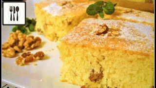 Сладкий воздушный Пирог/Кекс с орехами и изюмом. Рецепт вкусного пирога к чаю