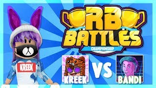 KreekCraft VS Bandi - LIVE REACTION!! | Roblox Battaglie SEMI-FINALS