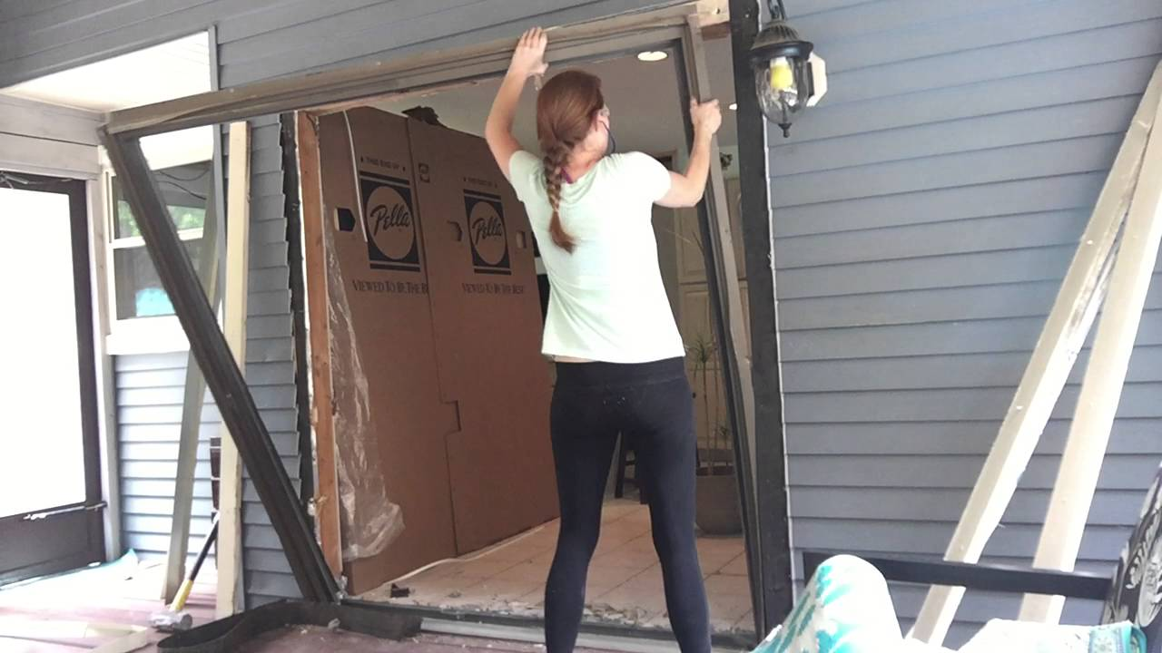 Removing sliding patio doors the unsafe method youtube removing sliding patio doors the unsafe method planetlyrics Image collections