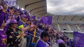 Salida Deportes Concepción vs Rodelindo Roman, estadio Bicentenario La  Florida