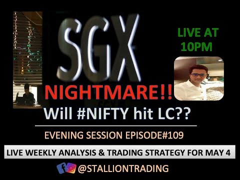 SGX Nifty Nightmare!! Will #Nifty Hit LC? Live Weekly Analysis & Trading Strategy For 4th May 2020