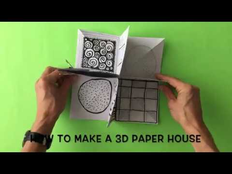 How To Make A 3d Paper House Youtube