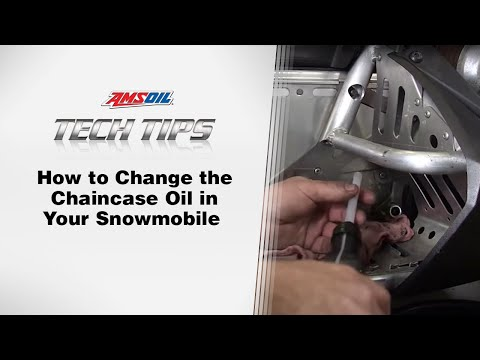 Amsoil Tech Tips Changing The Chaincase Oil In Your Snowmobile