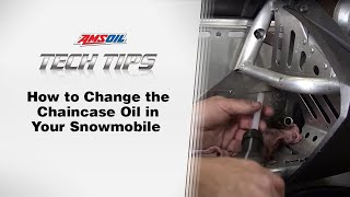 AMSOIL Tech Tips: Changing the Chaincase Oil in your Snowmobile