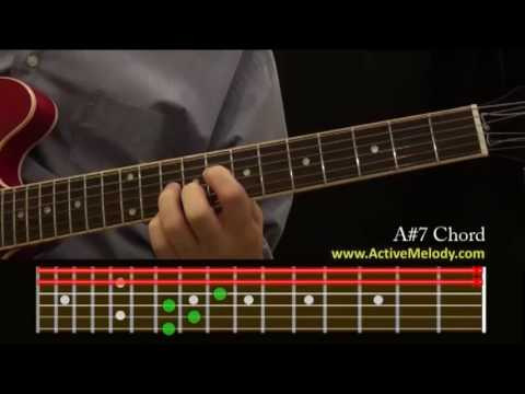 How To Play An A7 Sharp Chord On The Guitar Youtube