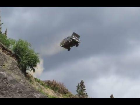 ford bronco jumps off a 300 39 cliff youtube. Black Bedroom Furniture Sets. Home Design Ideas