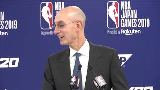 NBA Commissioner Adam Silver FULL news conference in Japan - speaking on China & Hong Kong issue