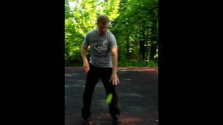 уроки бокса. работа с теннисным мячом