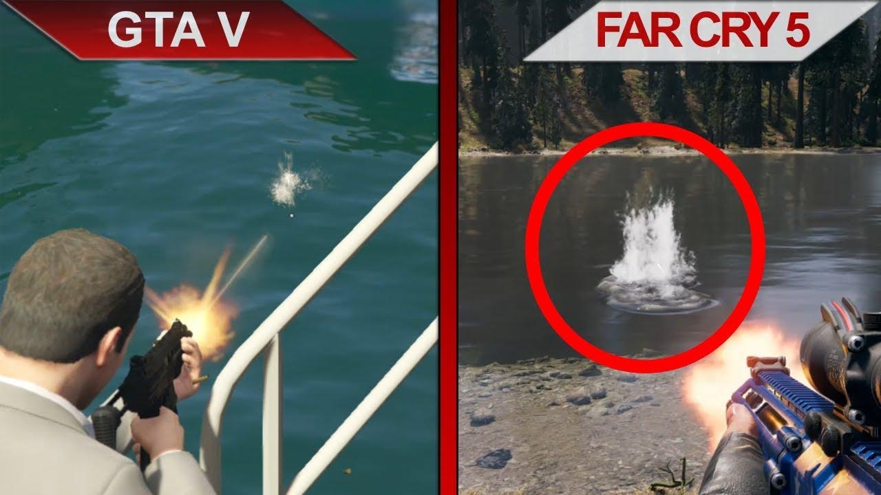 The Big Gta V Vs Far Cry 5 Sbs Comparison Pc Ultra Youtube