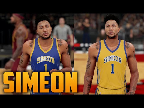best website eaf14 945cf NBA 2K16 Simeon Highschool Jersey Tutorial (Derrick Rose ...
