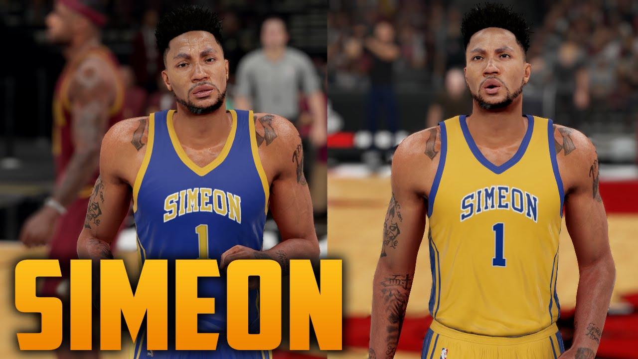 a53cd271d626 NBA 2K16 Simeon Highschool Jersey Tutorial (Derrick Rose) - YouTube