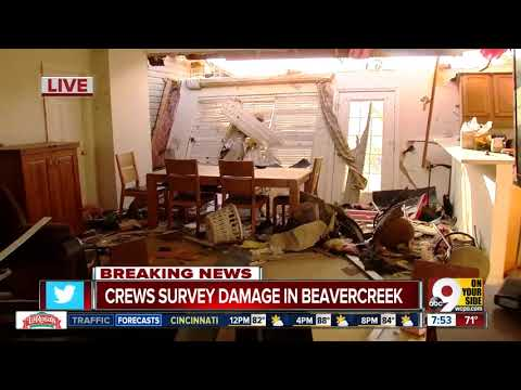 Crews Survey Storm Damage In Beavercreek