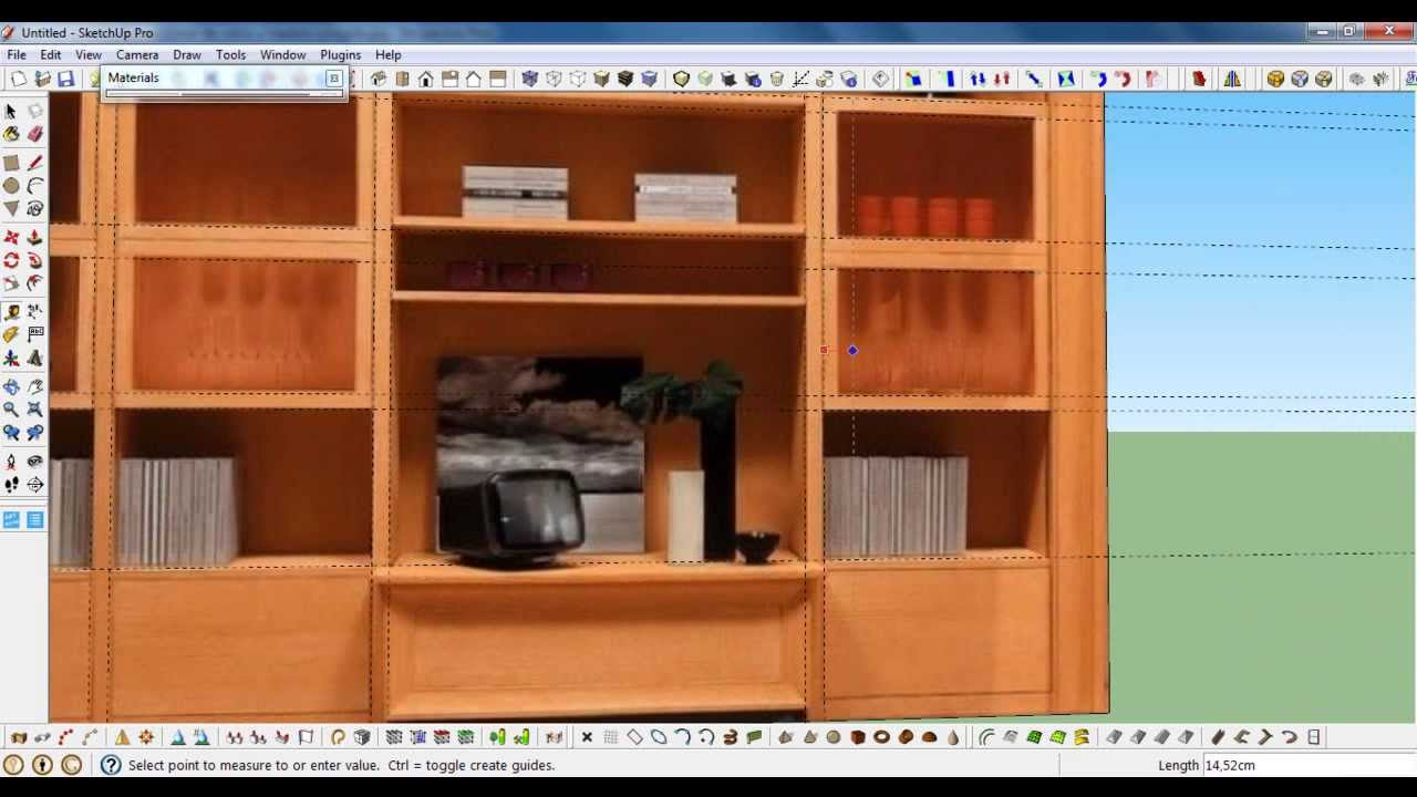 Creaci n de mueble a partir de una foto sketchup tutorial for Programa para disenar muebles en 3d gratis