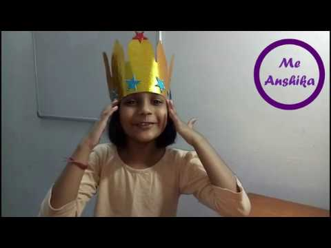 Paper Crown for Kids | School Project | DIY Easy Crown Video