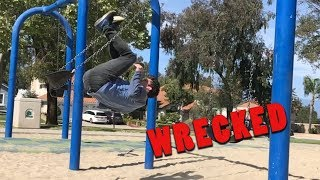 Flip onto swing Progression - I GOT WRECKED