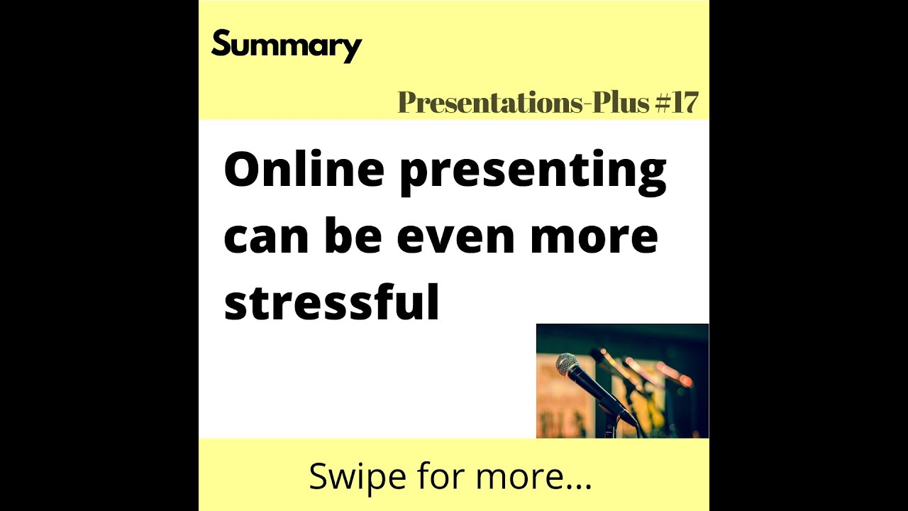 Introduction to online presenting