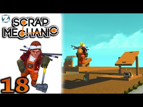 Scrap Mechanic Gameplay - Ep 18 - Player Tossing Challenge (Let's Play)
