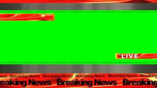 4K Ultra HD Breaking News Green Screen Background Free Animation