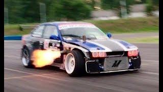 2JZ Anti-Lag FLAME THROWER BMW E36 Drifting - Nagy Ferenc   DRIFT MATSURI 2017