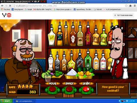 Bartender The Celeb Mix Y8 Game Gameplay Drink Alcohol