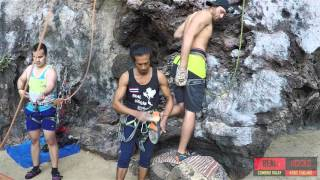 Real Rocks Climbing And Caving Tours at Railay Beach, Krabi, Thailand 2016