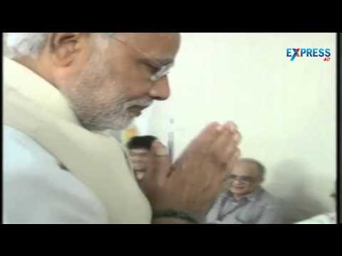 Narendra Modi casting his vote in a polling booth at vadodara in Gujrat - Election 2014