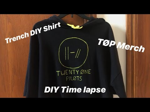Trench T Shirt Diy Timelapse Twenty One Pilots Diy Youtube