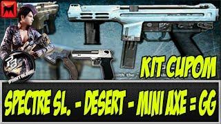 "Kit Cupom - Analisando a Spectre sl. - Desert sl. - Mini Axe ""Modo Ninja"""