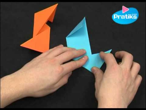 origami comment faire un shuriken en papier youtube. Black Bedroom Furniture Sets. Home Design Ideas