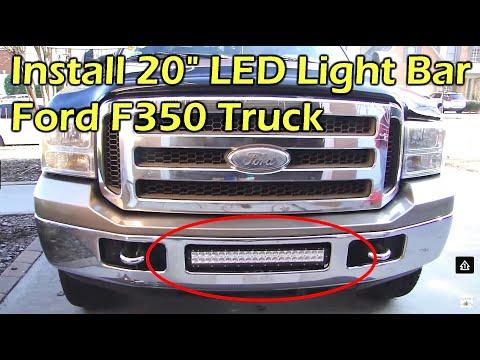 "Install 20"" 120W Dual Row LED Light Bar on Ford F350"