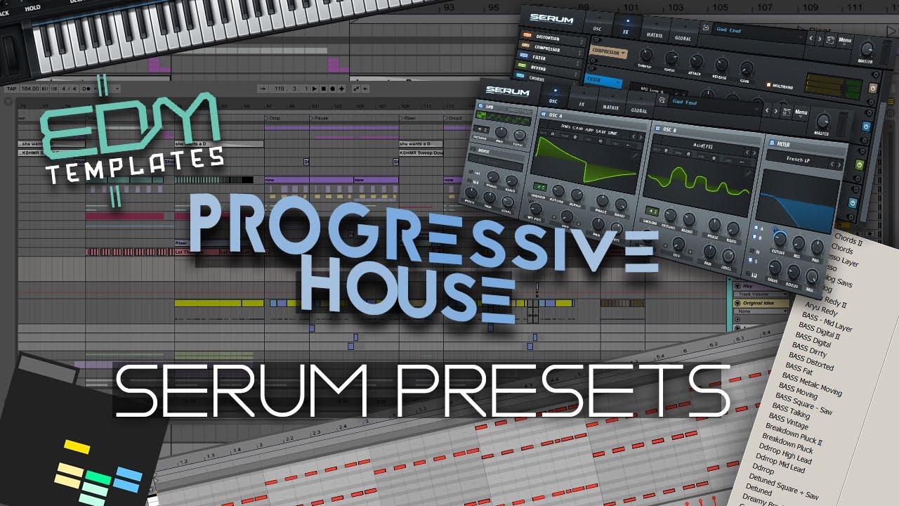 Progressive House Serum Presets FREE DOWNLOAD - 40 Lead & 10 Bass Serum  Presets