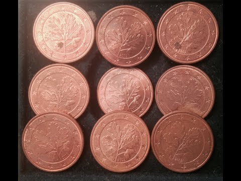 5 Euro Cent Coins Germany Dated 2002