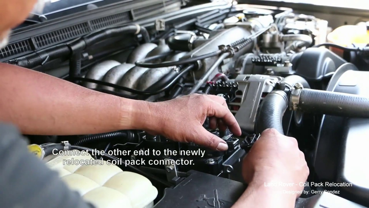 Land Rover Coil Pack Relocation on