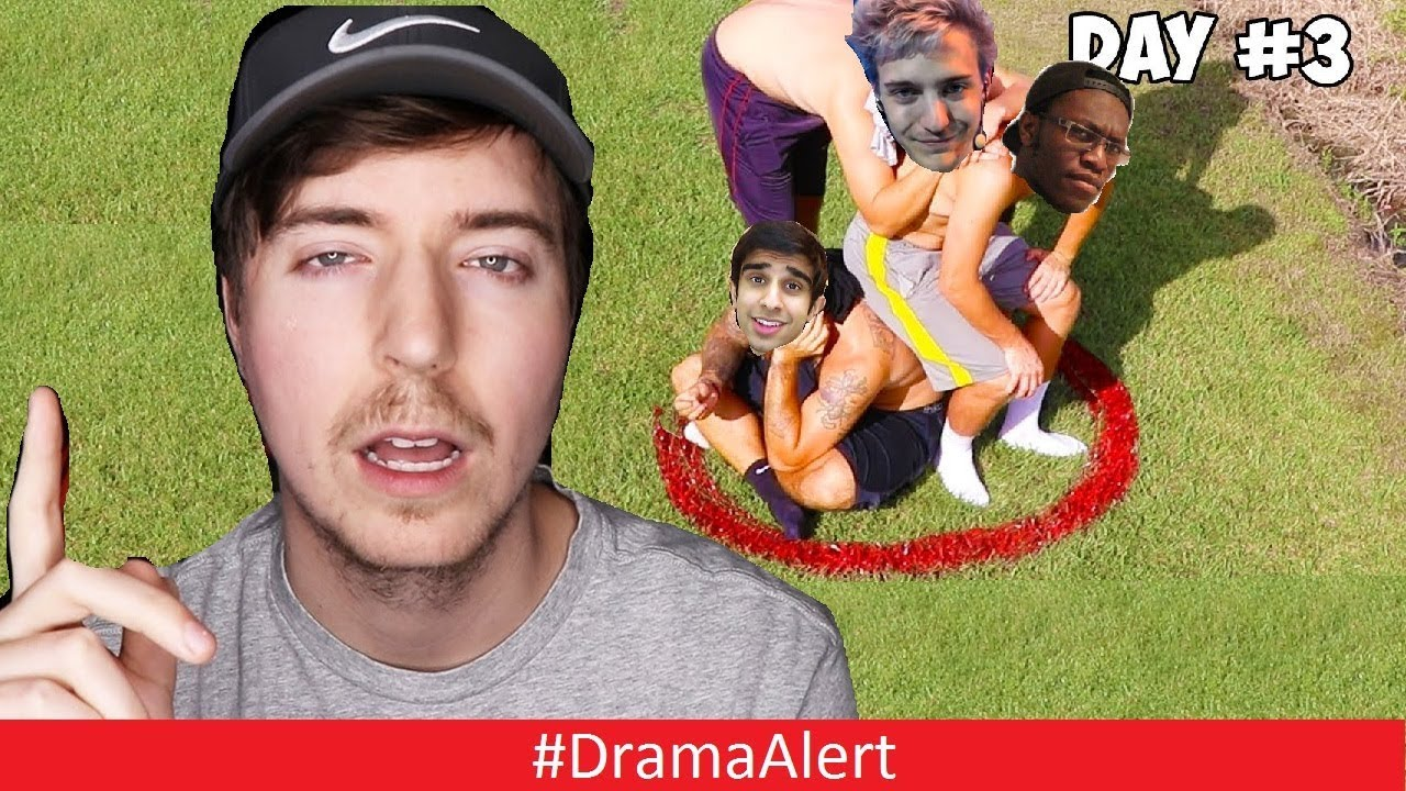 mr-beast-is-making-youtubers-stand-in-a-circle-for-100-000-dramaalert-ninja-trolled-by-drake