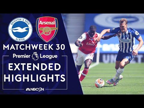 Brighton v. Arsenal | PREMIER LEAGUE HIGHLIGHTS | 6/20/2020 | NBC Sports