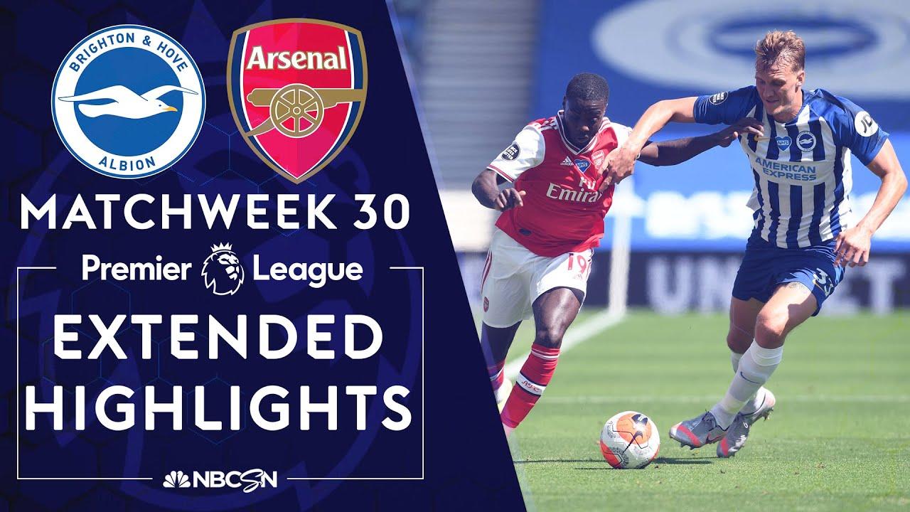 Brighton v. Arsenal   PREMIER LEAGUE HIGHLIGHTS   6/20/2020   NBC Sports