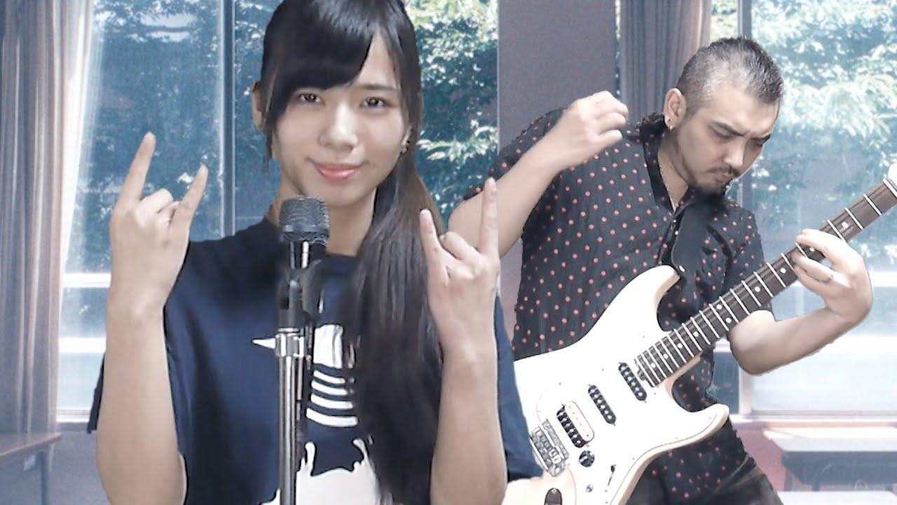 引きこもり夫婦は合成画面で中庭の少女たち(SHISHAMO)を歌って演奏して楽しみました【ヨメトオレ】 - YouTube