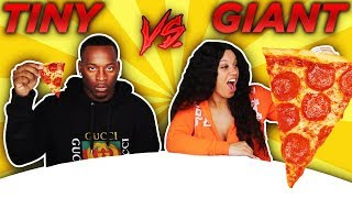 Download GIANT VS TINY CHALLENGE! Mp3 and Videos