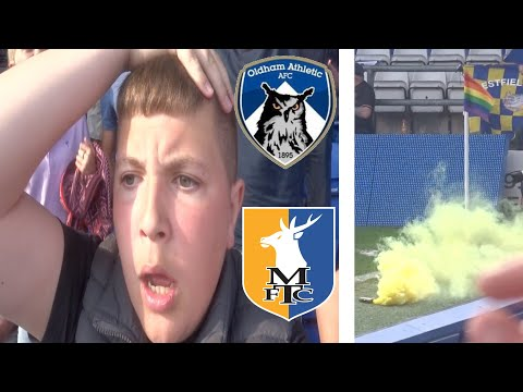 SMASHED ON THE TELLY!! OLDHAM ATHLETIC VS MANSFIELD TOWN VLOG!!