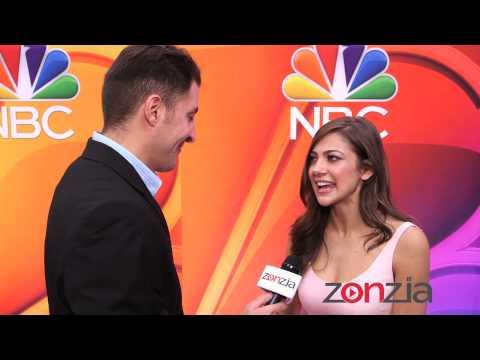 Mia Serafino at the NBC Upfront with BTVRtv's Arthur Kade
