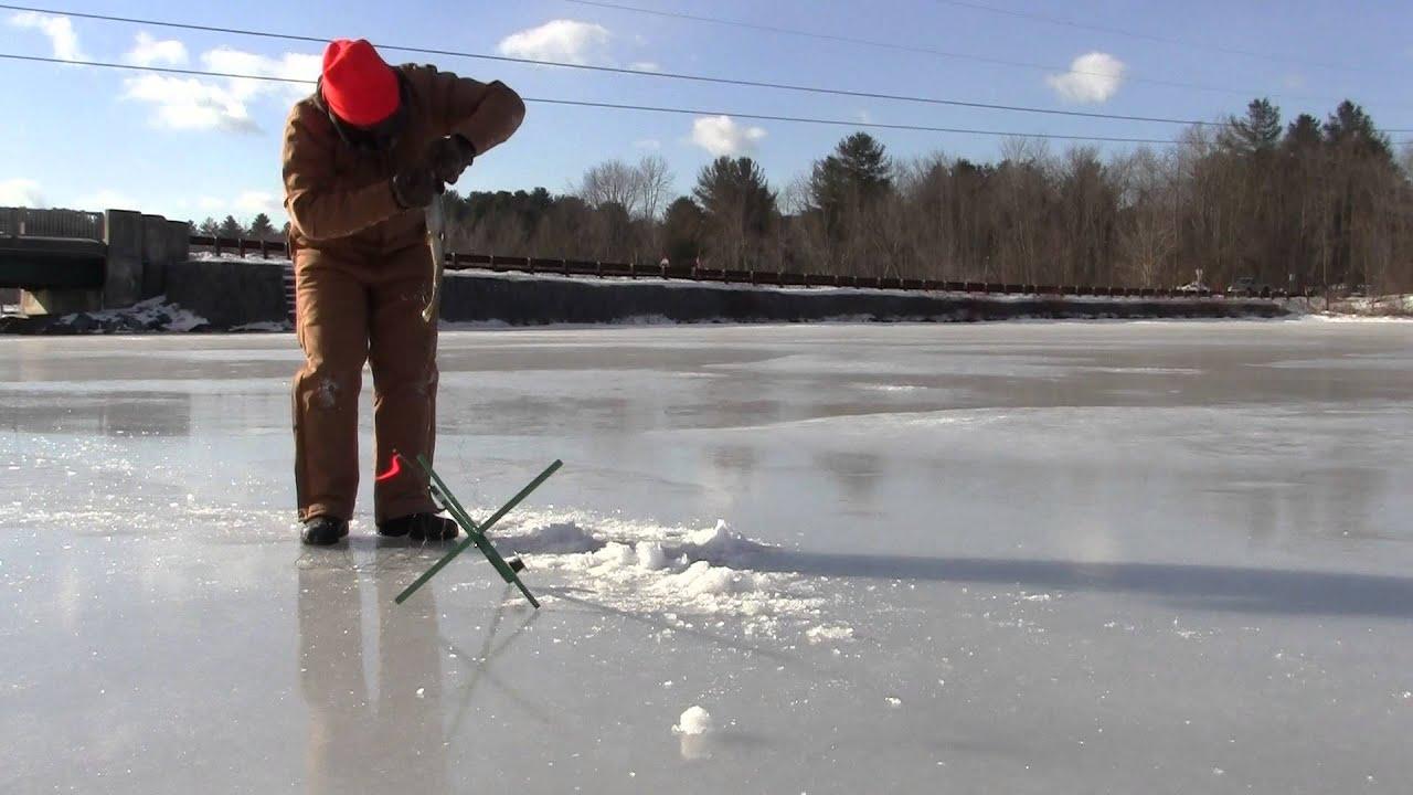Ice fishing lake bomoseen 2014 first first of the year for Ice fishing videos on youtube