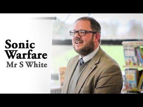 Cokethorpe Spark Lectures: Sonic Warfare