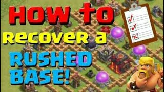 How to recover a rushed base || clash of clans ||in hindi